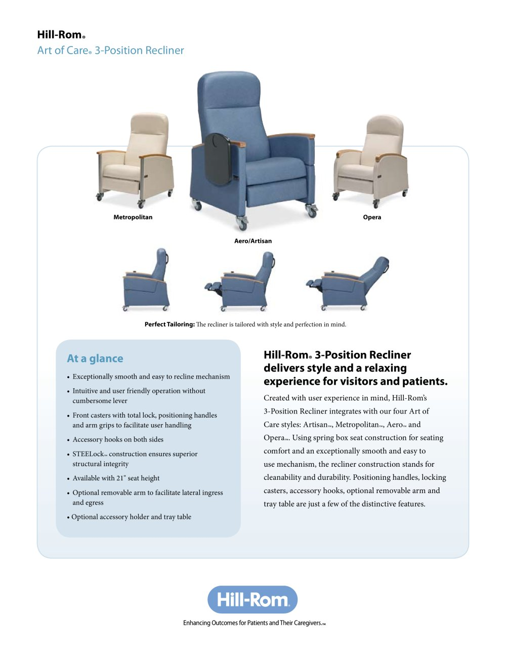 Art of Care ® 3-Position Recliner - 1 / 2 Pages  sc 1 st  Catalogues Medicalexpo & Art of Care ® 3-Position Recliner - Hill-Rom - PDF Catalogue ... islam-shia.org