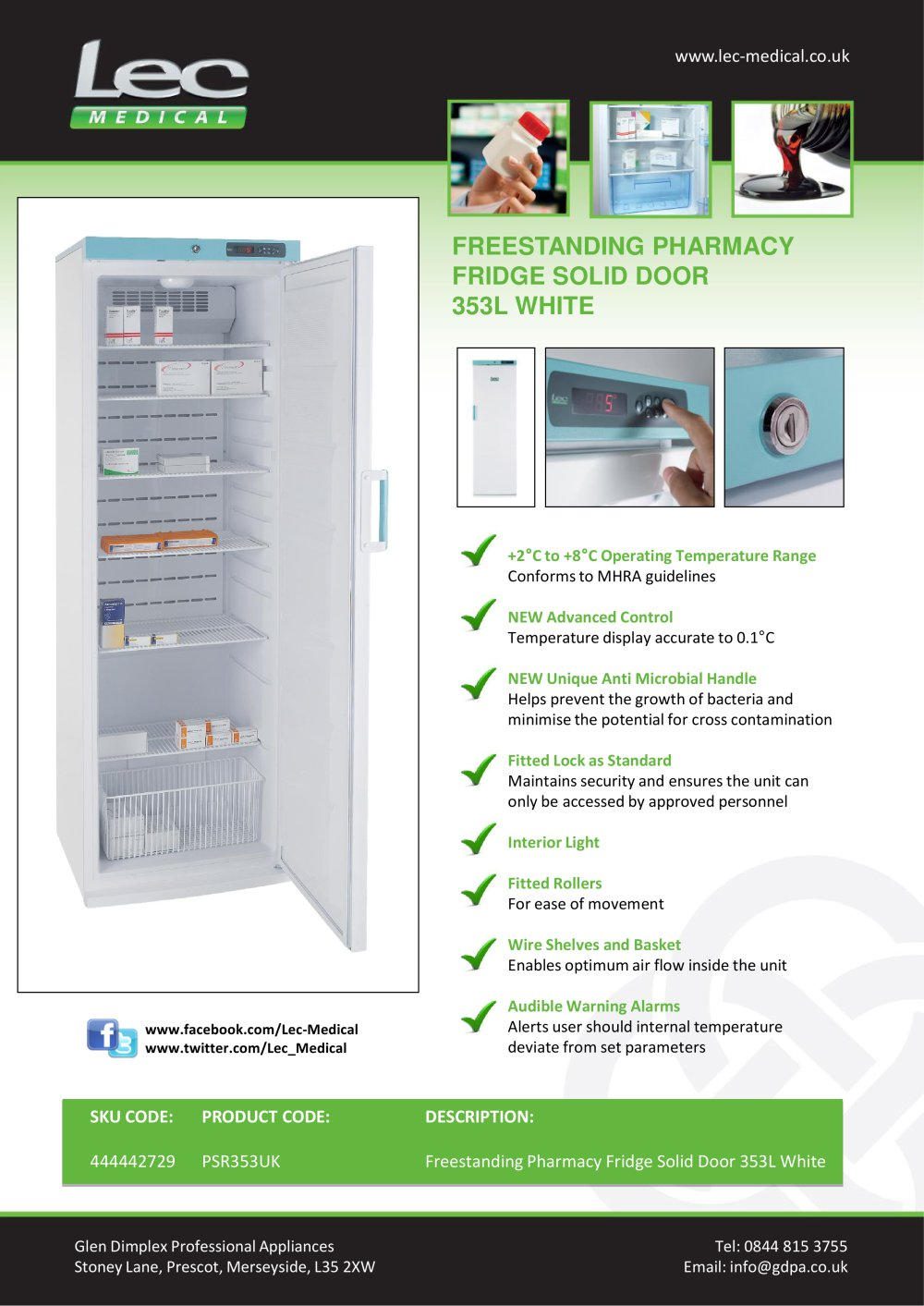 What temperature should a medication fridge be