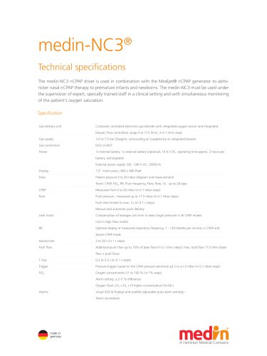 Technical Specifications medin-NC3