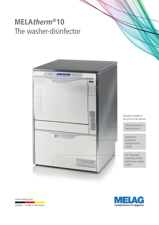 MELAtherm 10 - MELAG - PDF Catalogue   Technical Documentation