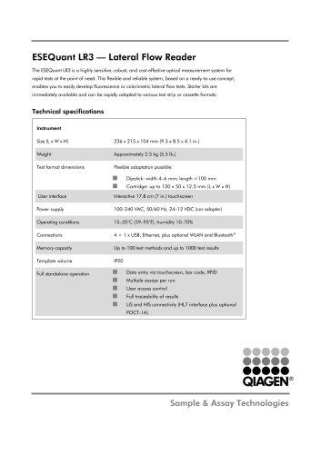 ESEQuant LR3 — Lateral Flow Reader
