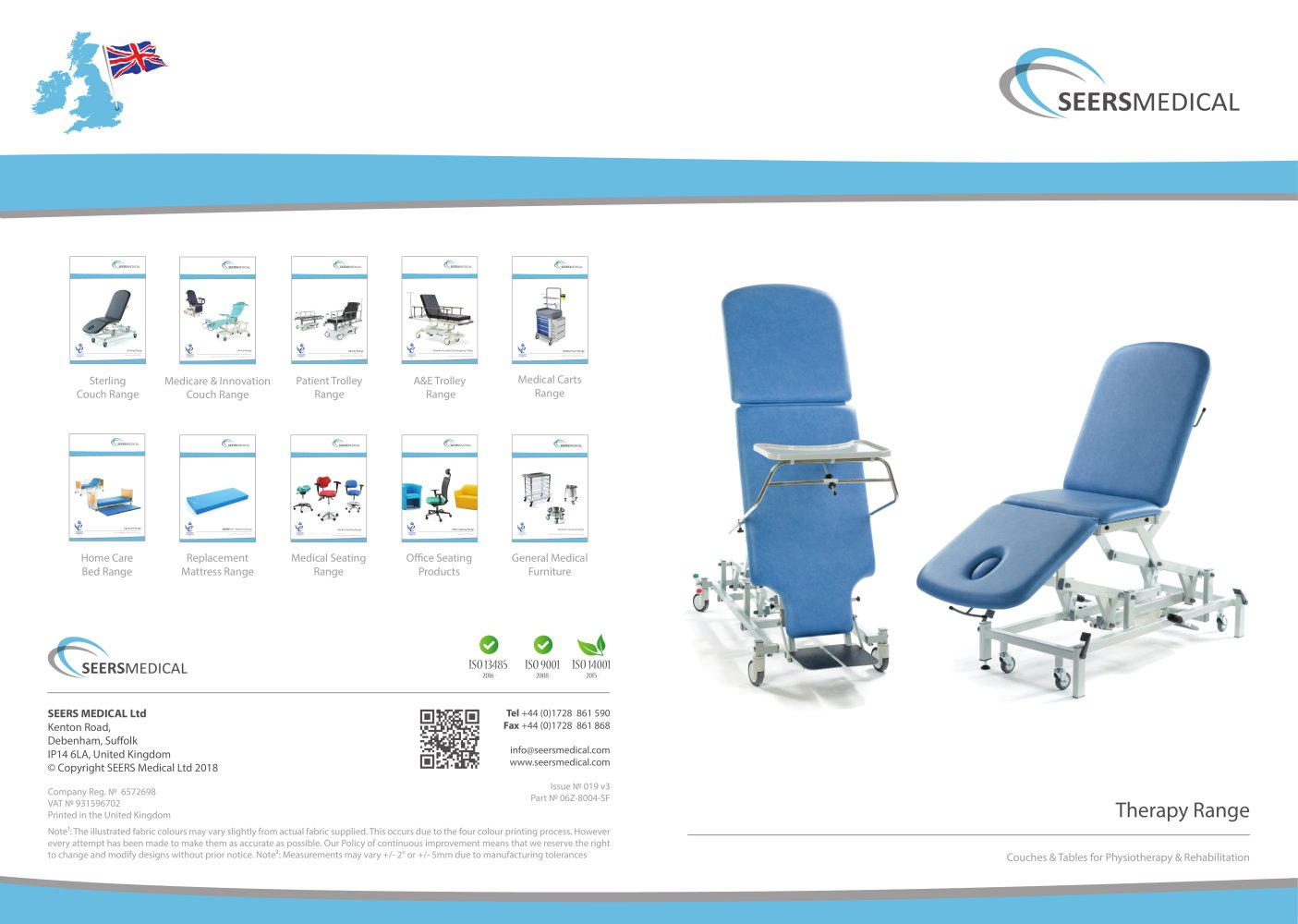 Shower Trolley - SEERS Medical - PDF Catalogue | Technical Documentation