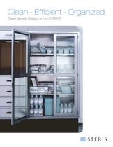 CLEAN EFFICIENT ORGANIZED CASE GOODS SOLUTIONS FOR STERIS