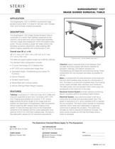 SurgiGraphic® 1027 Image Guided Surgical Table