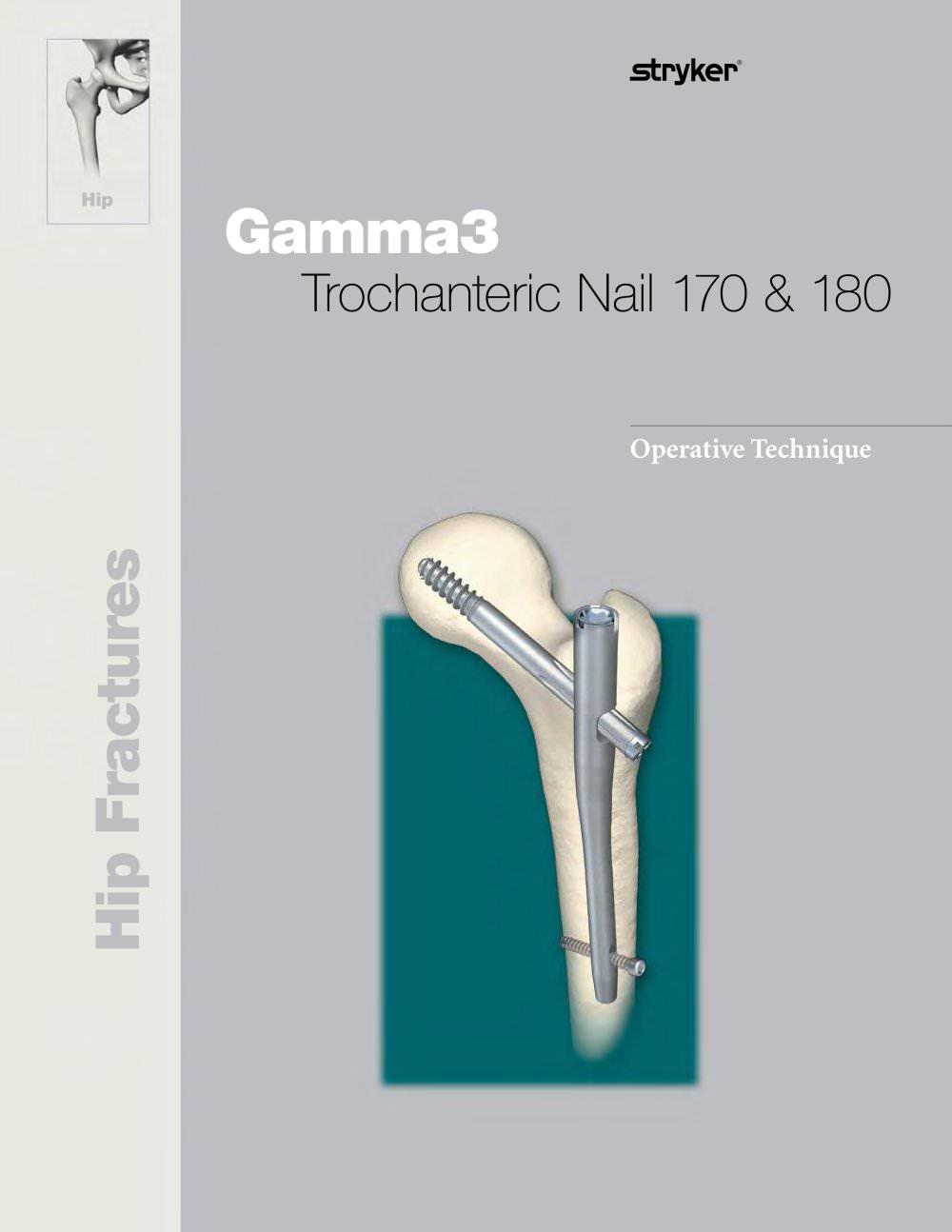 Gamma3 Trochanteric Nail 180 - Stryker - PDF Catalogue   Technical ...