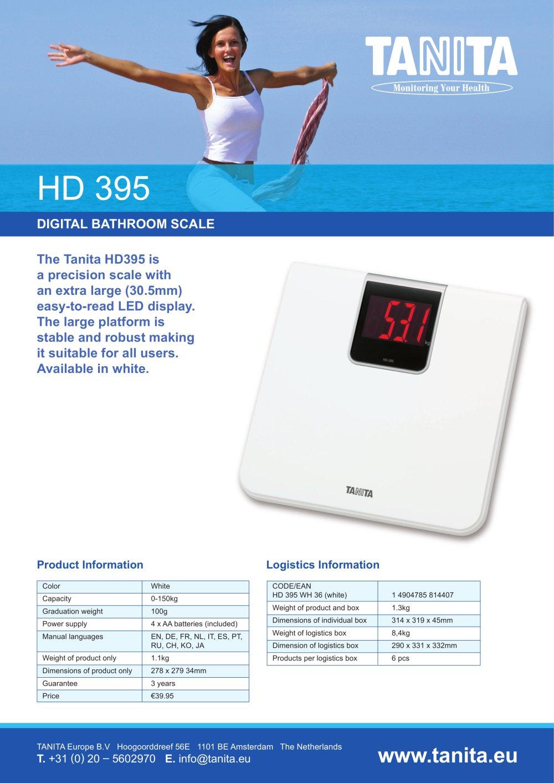 Tanita bathroom scales - Hd 395 Digital Bathroom Scale 1 1 Pages