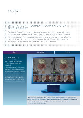 BrachyVision? Treatment Planning System