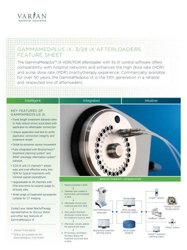 GammaMedplus? iX Afterloader Brochure