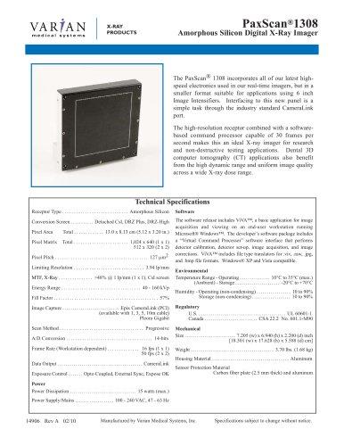 PaxScan® 1308