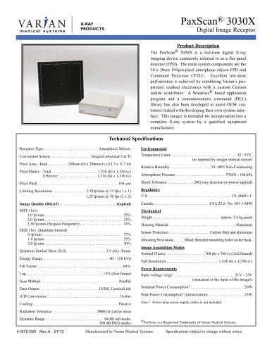 PaxScan ® 3030X
