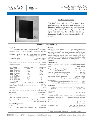 PaxScan 4336R