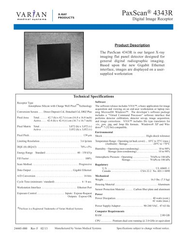 PaxScan ® 4343R