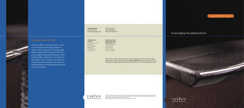 Varian Exact© IGRT couch