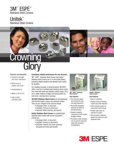 3M™ ESPE™ and Unitek™ Stainless Steel Crowns Flyer
