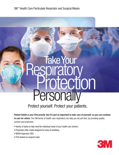 3M™ Healthcare Respirator Full Line Product