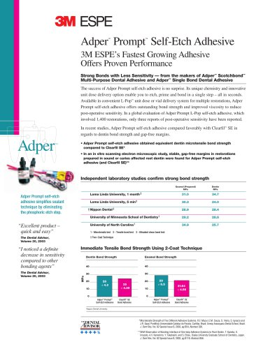 Adper Prompt Proven Performance