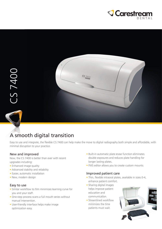 cs 7400 system information sheet carestream dental pdf catalogue rh pdf medicalexpo com Carestream 9000 3D Carestream 9000 3D
