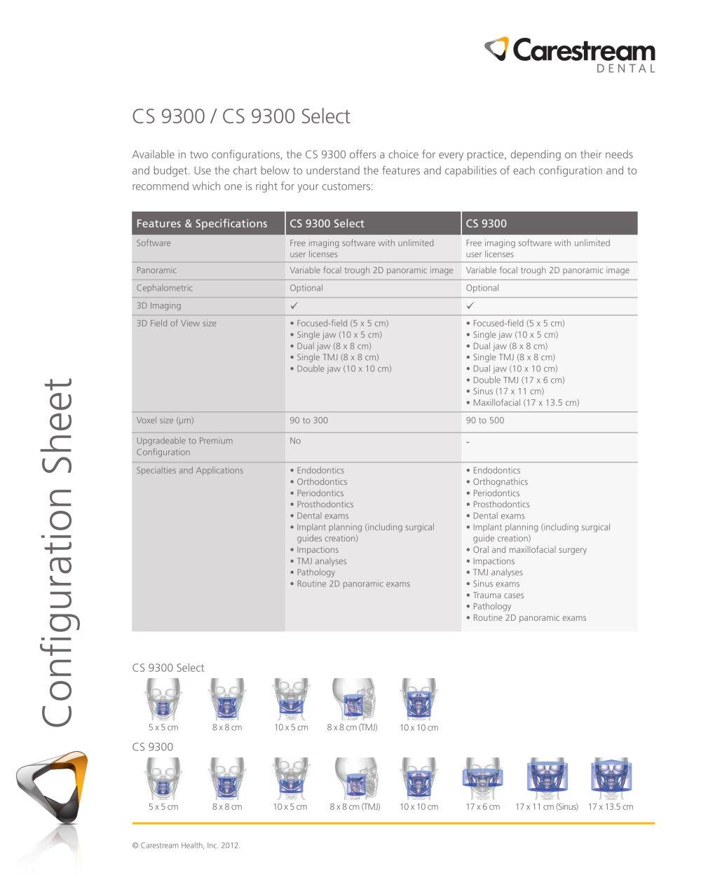 CS 9300 Configuration Sheet - 1 / 1 Pages