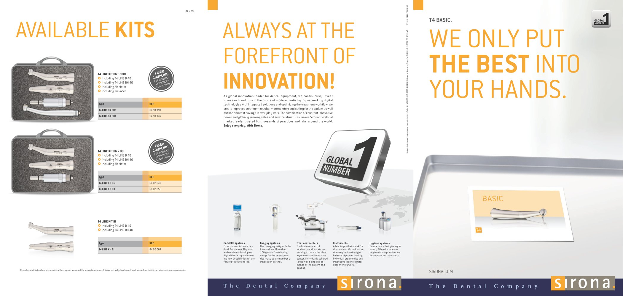 t4 basic dentsply sirona pdf catalogue technical documentation rh pdf medicalexpo com Sirona USA Sirona Digital Radiography