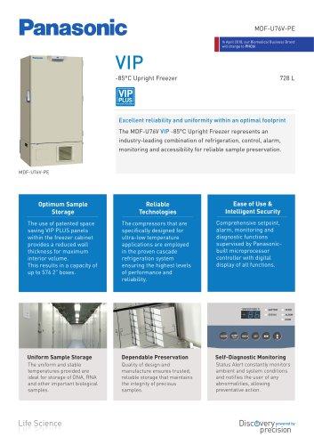 -85°C VIP Ultra Low Freezers MDF-U76V-PE