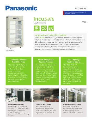 IncuSafe CO2 Incubator MCO-80IC Product Sheet