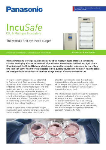 IncuSafe Incubators Customer Testimonial - The world's first synthetic burger, University of Maastricht,NL