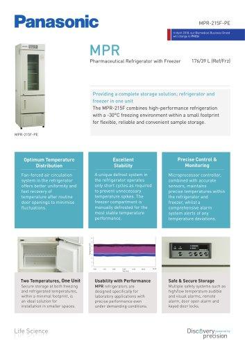 MPR-215F Pharmaceutical Refrigerator with Freezer