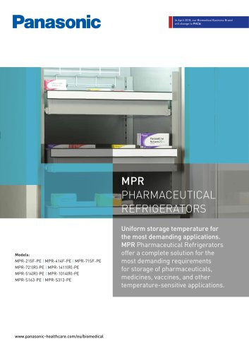 MPR Pharmaceutical Refrigerators Brochure