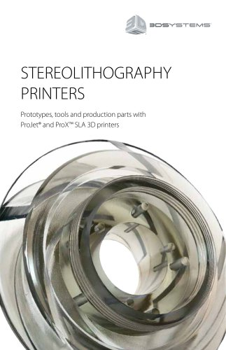 Stereolithography Printers Brochure