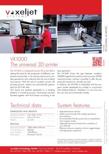 voxeljet VX1000