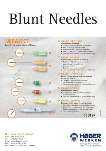 Miraject Blunt Needles