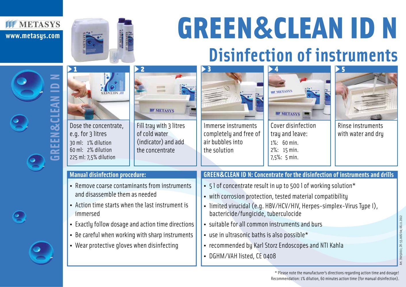 Image result for metasys green clean  GREEN&CLEAN ID N
