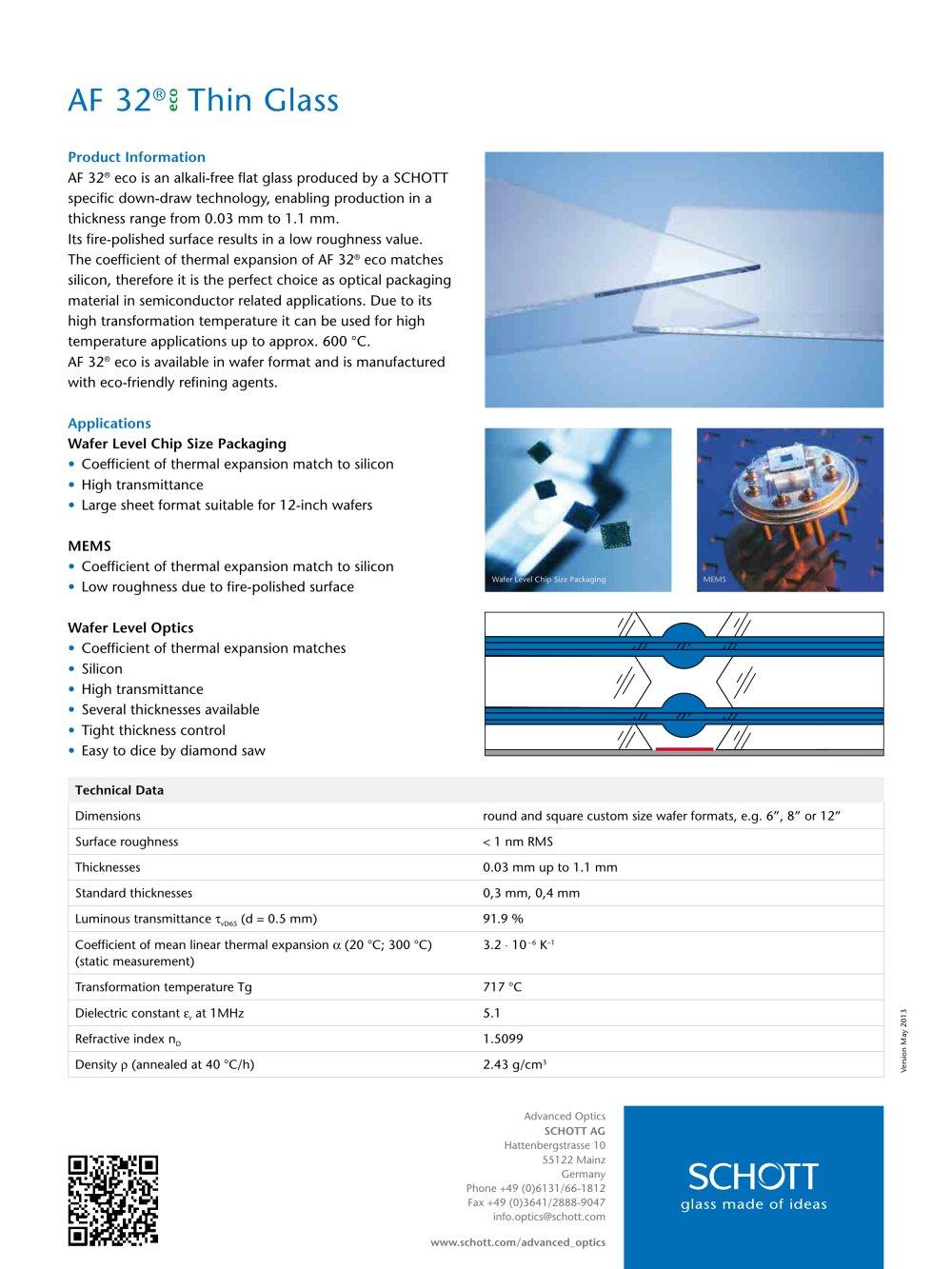 Af 32 Eco Thin Glass Schott Pdf Catalogs Technical Documentation