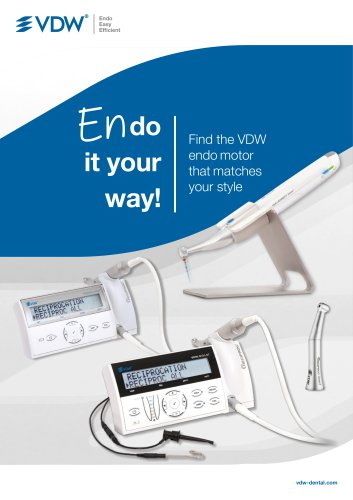 VDW RECIPROC SILVER - Product brochure - VDW GmbH - PDF Catalogs