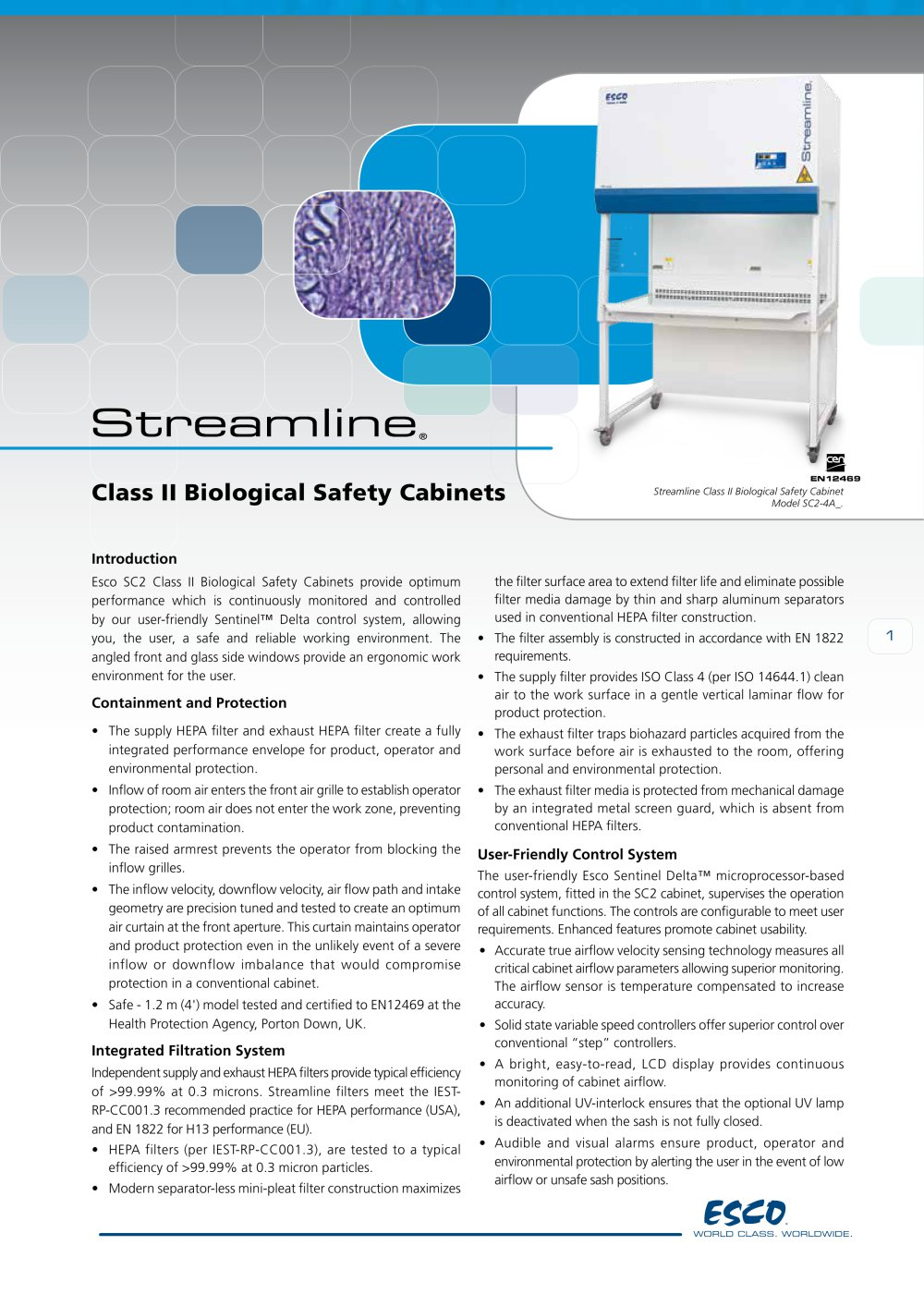 Class Ii Type A2 Biosafety Cabinet Streamline Class Ii Biological Safety Cabinets Esco Pdf
