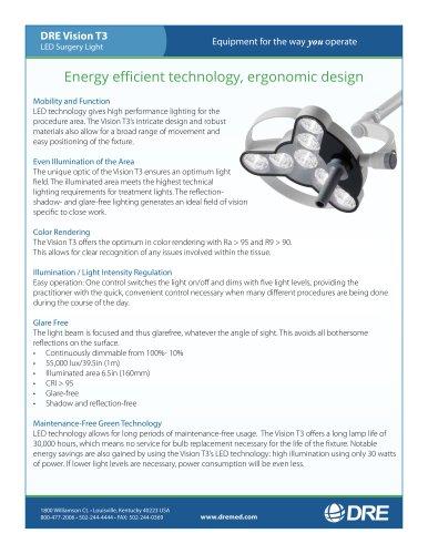 DRE Vision T3 LED Surgery Light - DRE Medical - PDF Catalogs