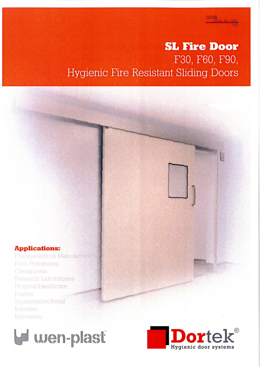 F Type Sliding Fire Rated Grp Doors Dortek Pdf Catalogue