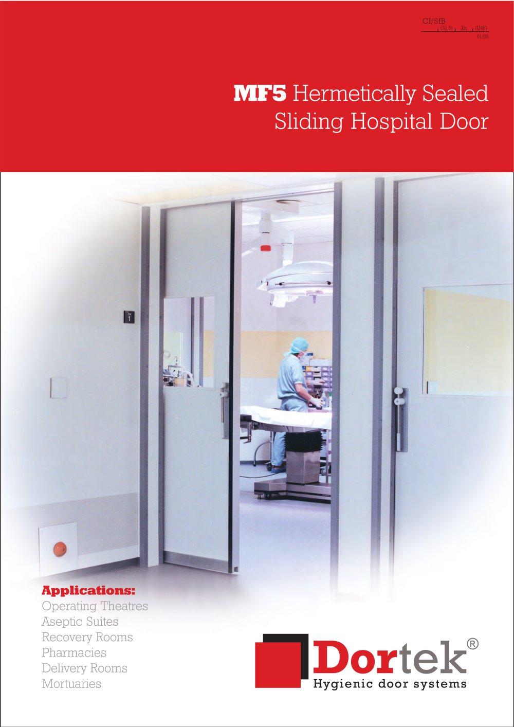 Hermetically Sealing Sliding Hospital Door Dortek Pdf Catalogue