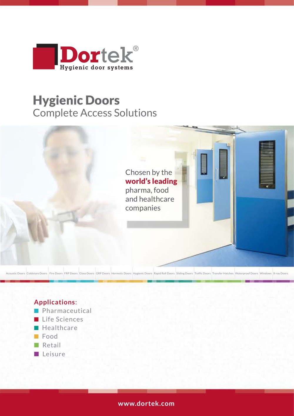Hygienic Doors - 1 / 6 Pages  sc 1 st  Catalogues Medicalexpo & Hygienic Doors - Dortek - PDF Catalogue | Technical Documentation