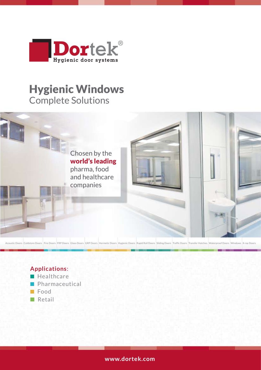Hygienic Windows - 1 / 4 Pages  sc 1 st  Catalogues Medicalexpo & Hygienic Windows - Dortek - PDF Catalogue | Technical Documentation
