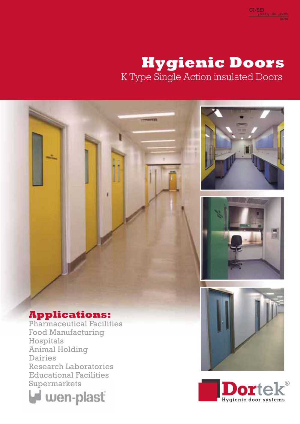 K Type Single Action Door - 1 / 4 Pages  sc 1 st  Catalogues Medicalexpo & K Type Single Action Door - Dortek - PDF Catalogue | Technical ...