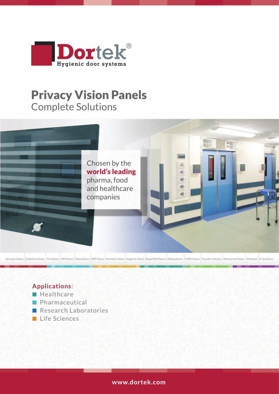 Privacy Vision Panels - 1 / 4 Pages  sc 1 st  Catalogues Medicalexpo & Privacy Vision Panels - Dortek - PDF Catalogue   Technical ... pezcame.com