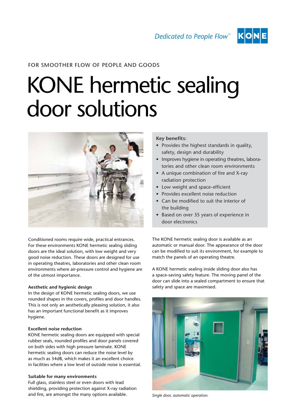 KONE hermetic sealing door solutions - 1 / 2 Pages  sc 1 st  Catalogues Medicalexpo & KONE hermetic sealing door solutions - KONE - PDF Catalogue ... pezcame.com