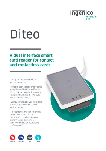 Diteo A dual interface smart card reader for contact and contactless