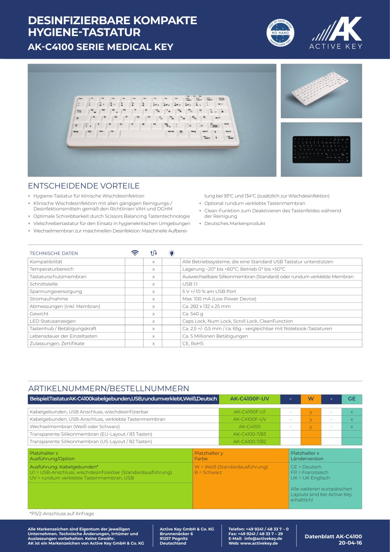 Minimum Gmbh ak c4100 active key gmbh co kg pdf catalogue technical