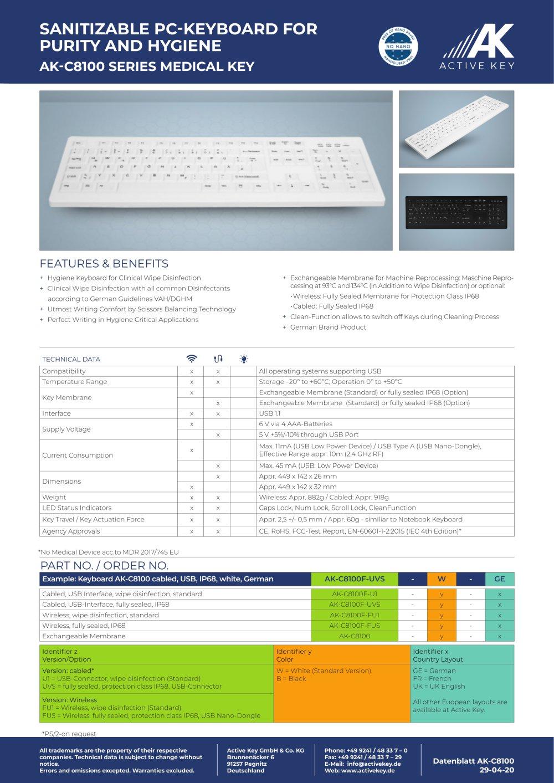Minimum Gmbh ak c8100 active key gmbh co kg pdf catalogue technical