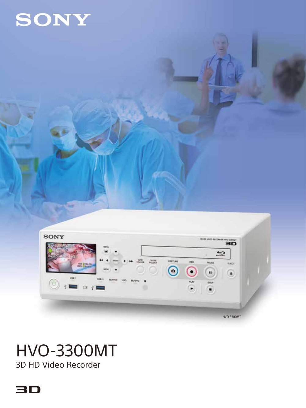 Hvo 3300mt 3d Hd Video Recorder Sony Pdf Catalogue Technical