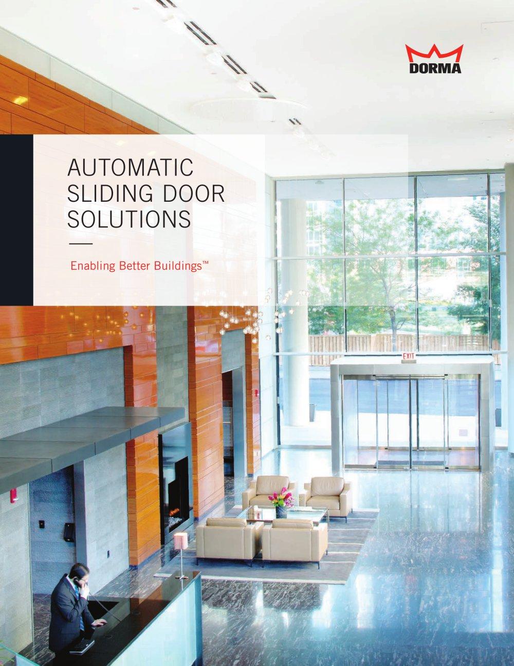 Auto Sliding Door Solutions Dorma Pdf Catalogue Technical
