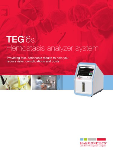 TEG 6s Hemostasis analyzer system