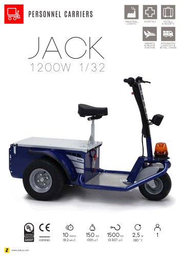 JACK electric personnel carrier with platform